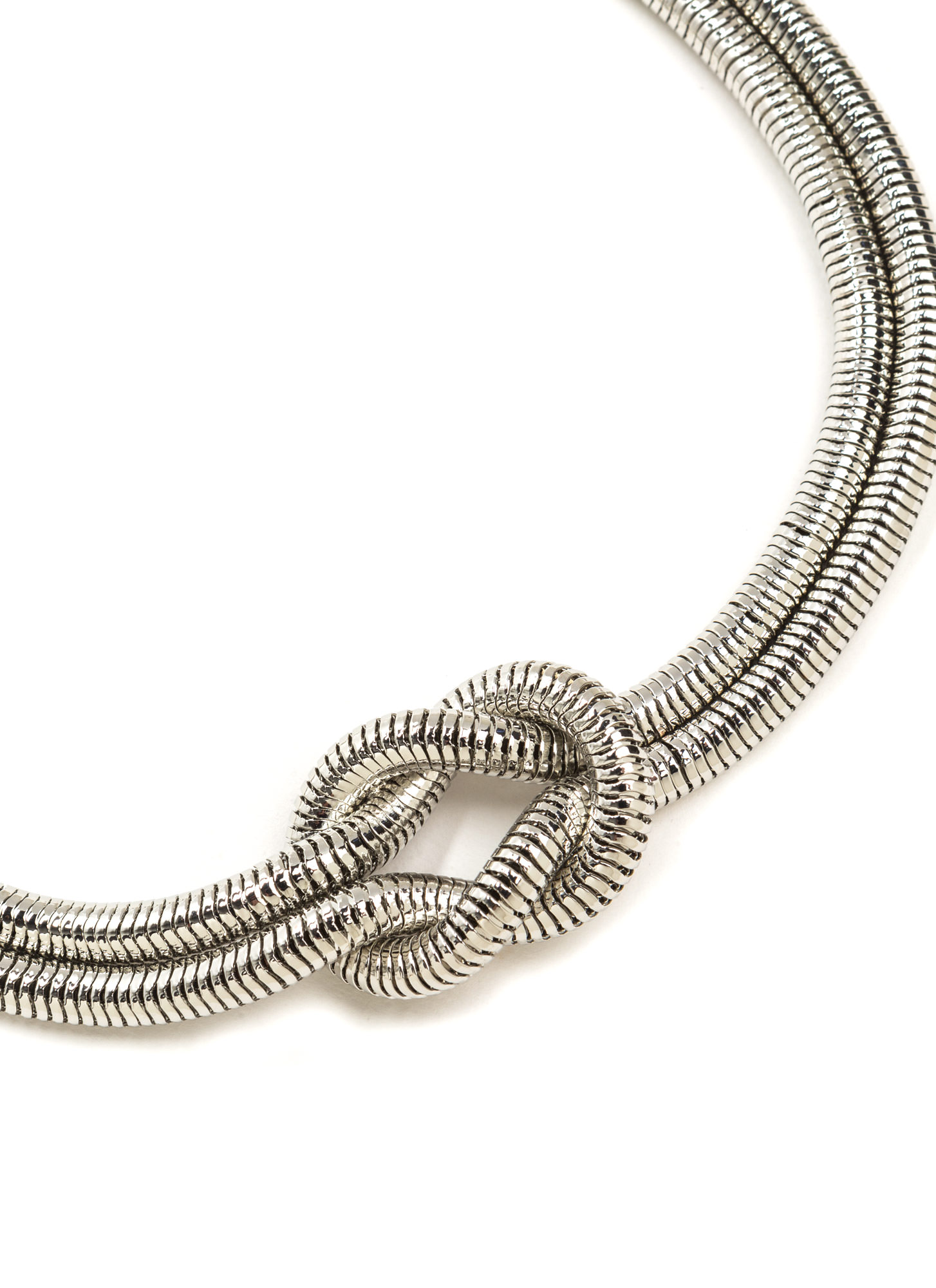 Knot Now Double Snake Chain Necklace SILVER