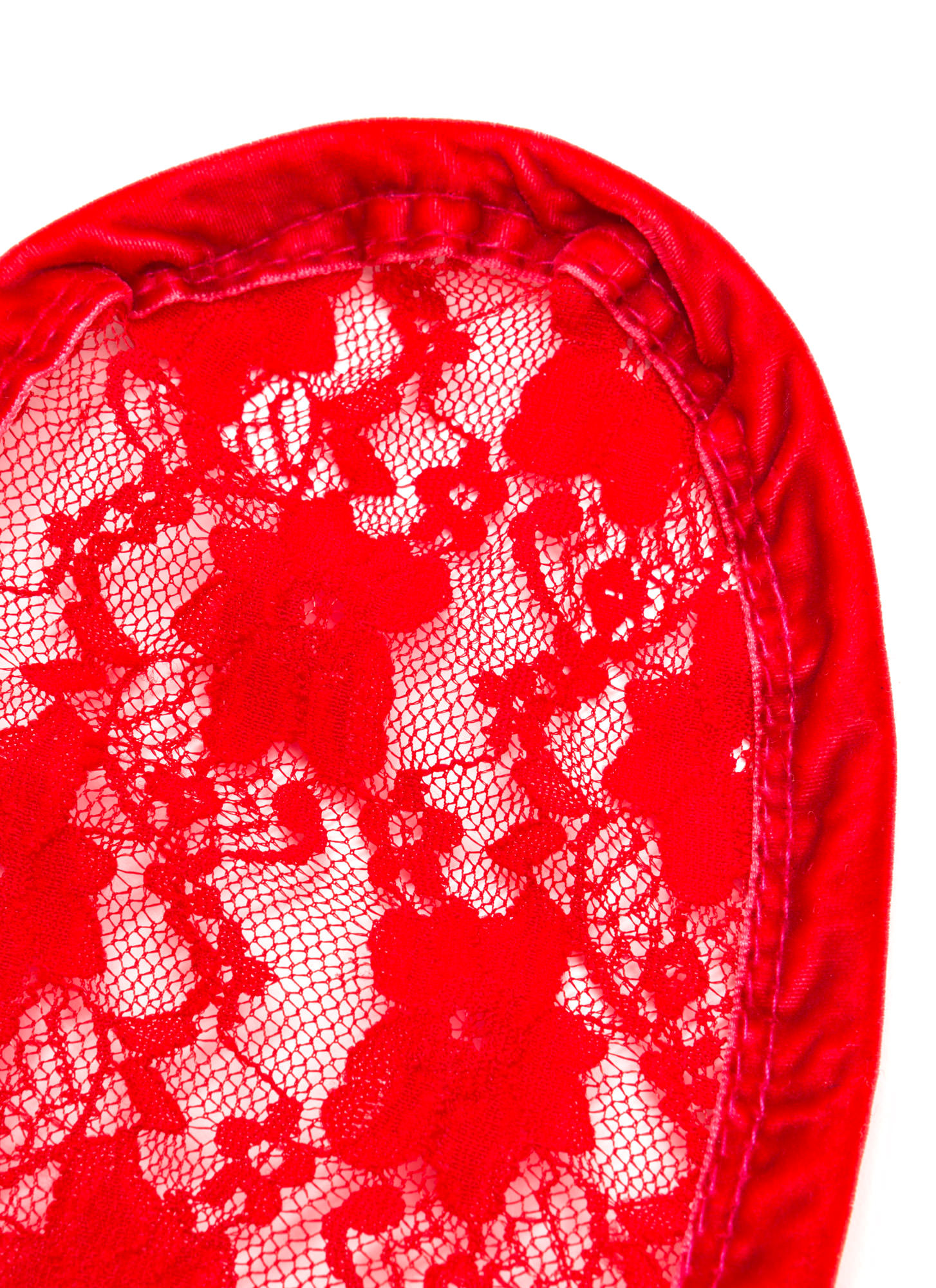Lace Get It On Bunny Ears Headband RED