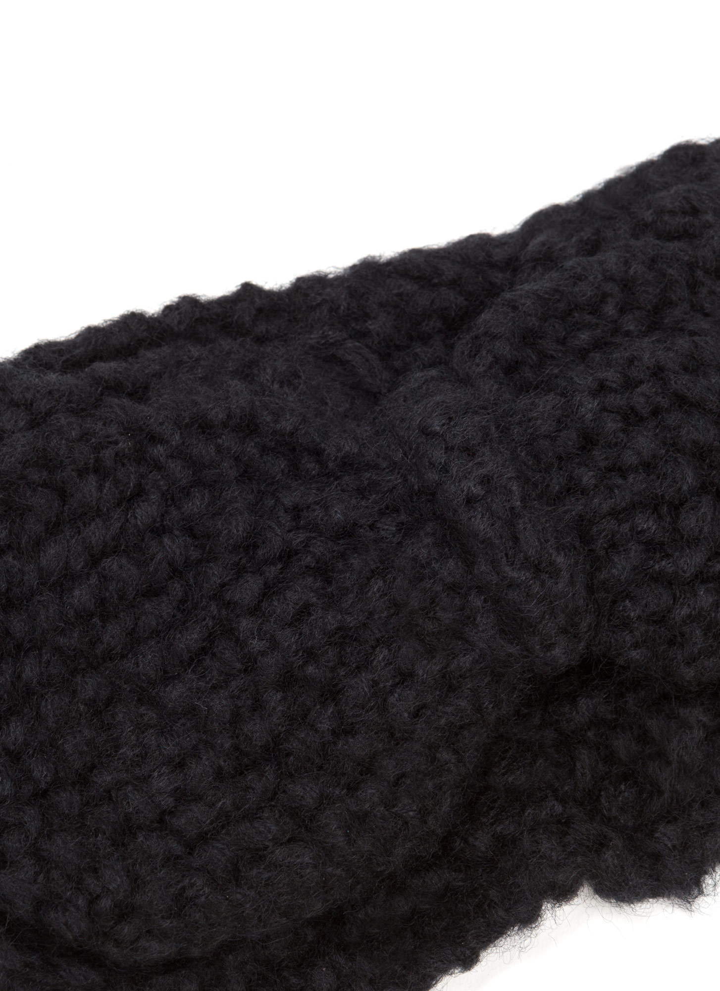 Bow Over Here Wide Knit Headband BLACK