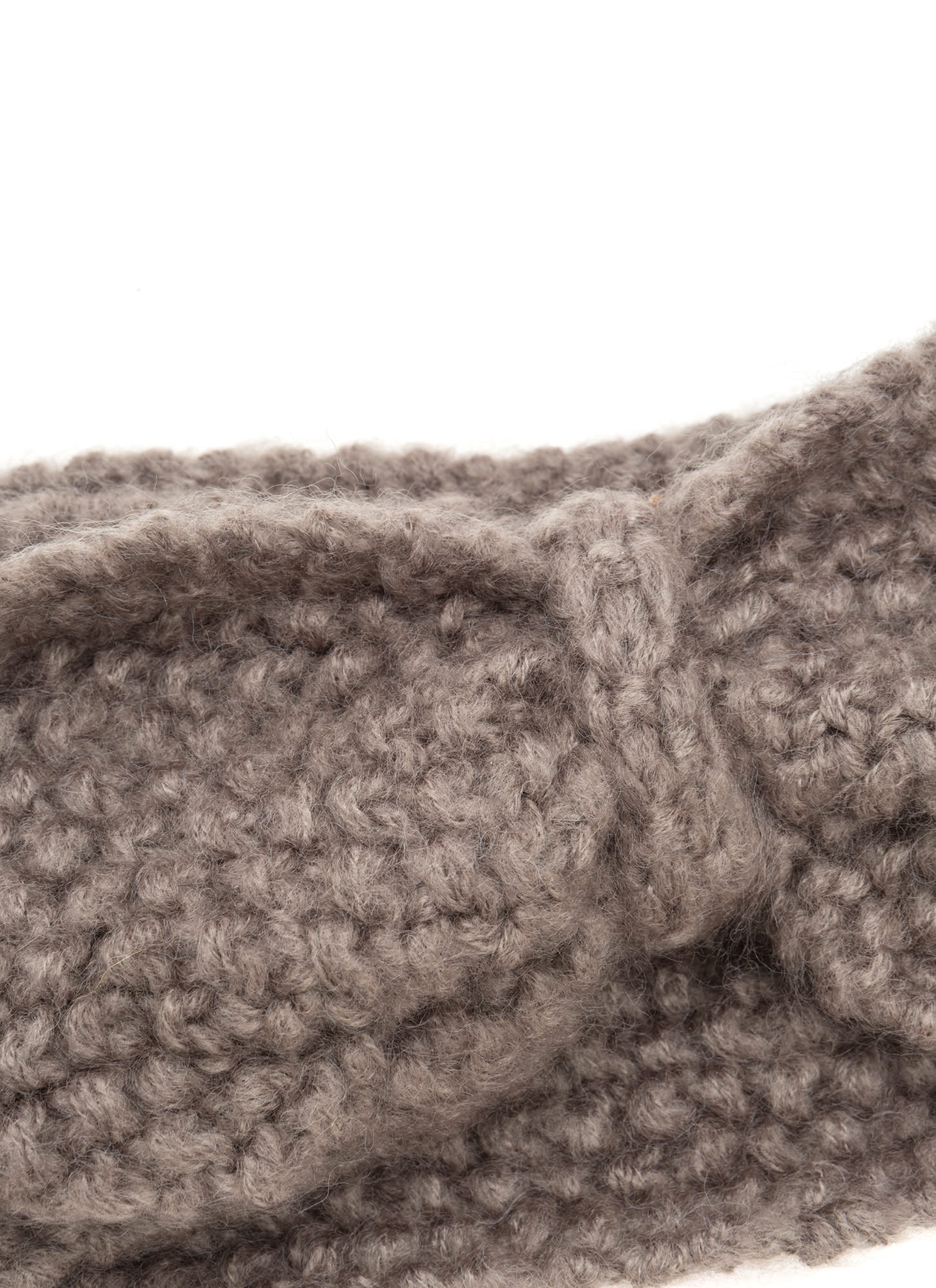 Bow Over Here Wide Knit Headband BROWN