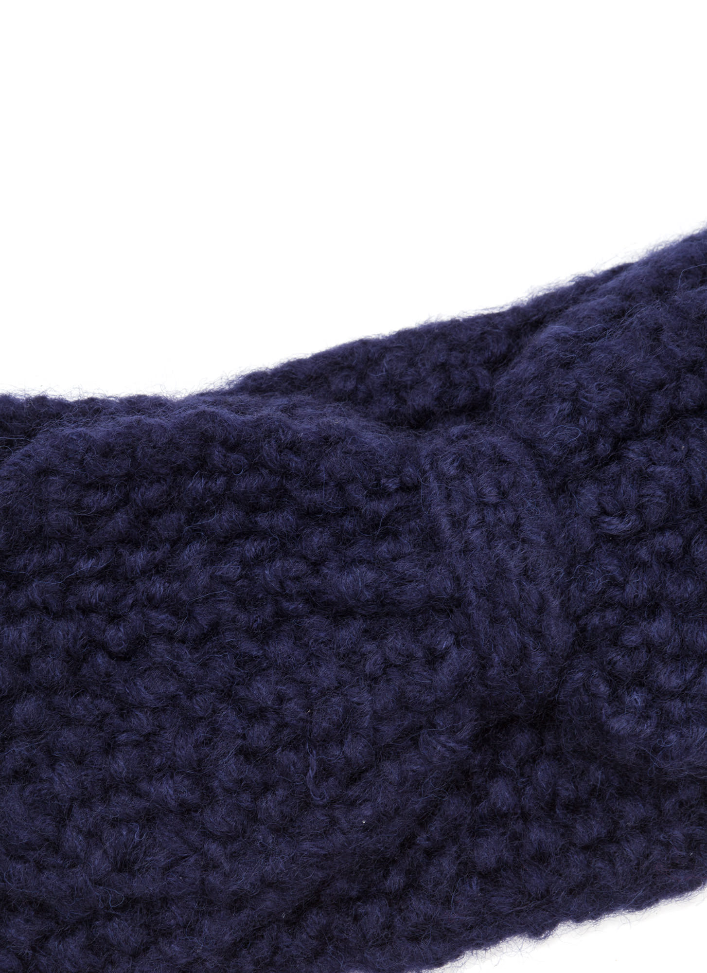 Bow Over Here Wide Knit Headband NAVY