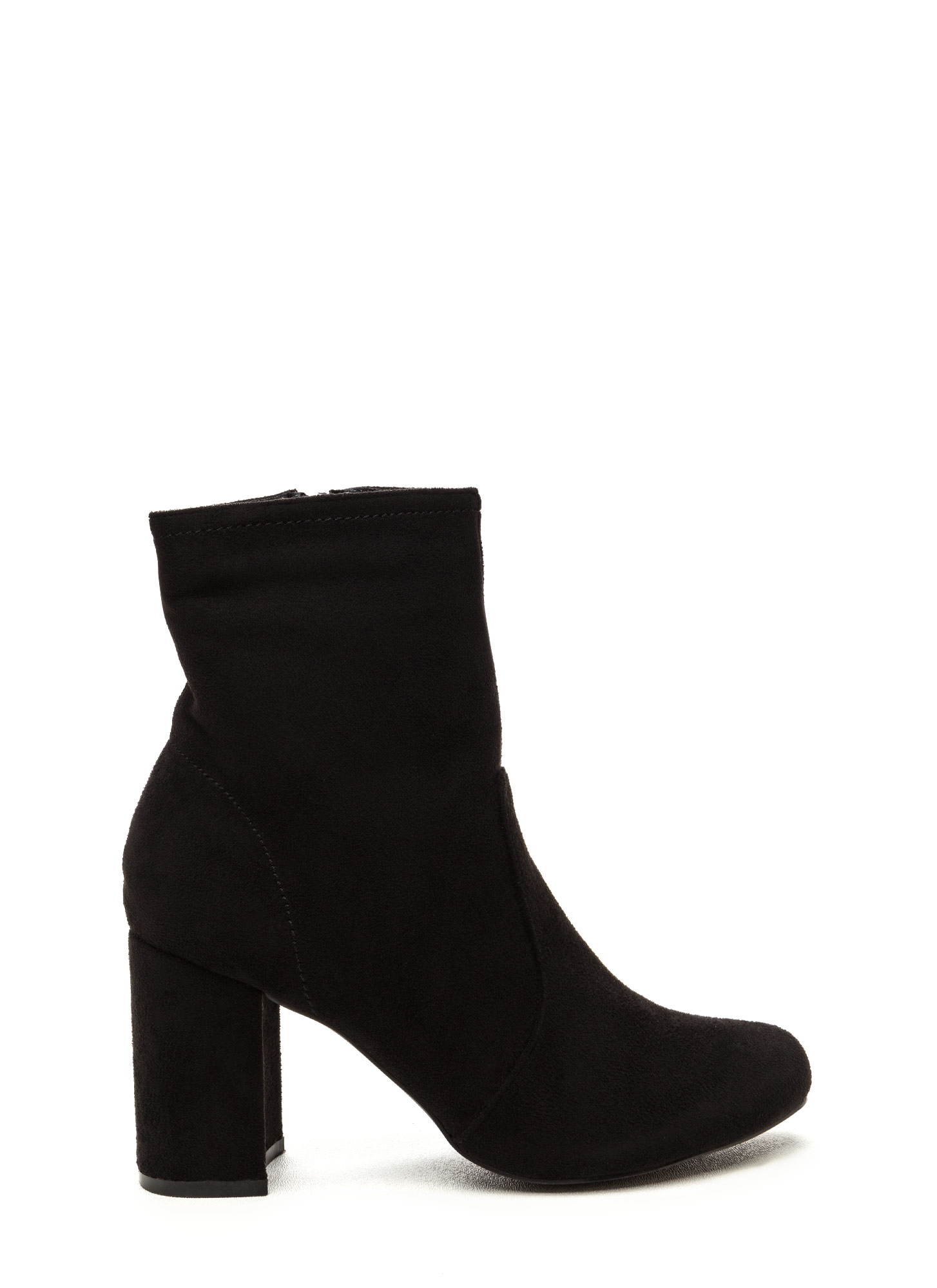 Stacked In Your Favor Chunky Booties BLACK