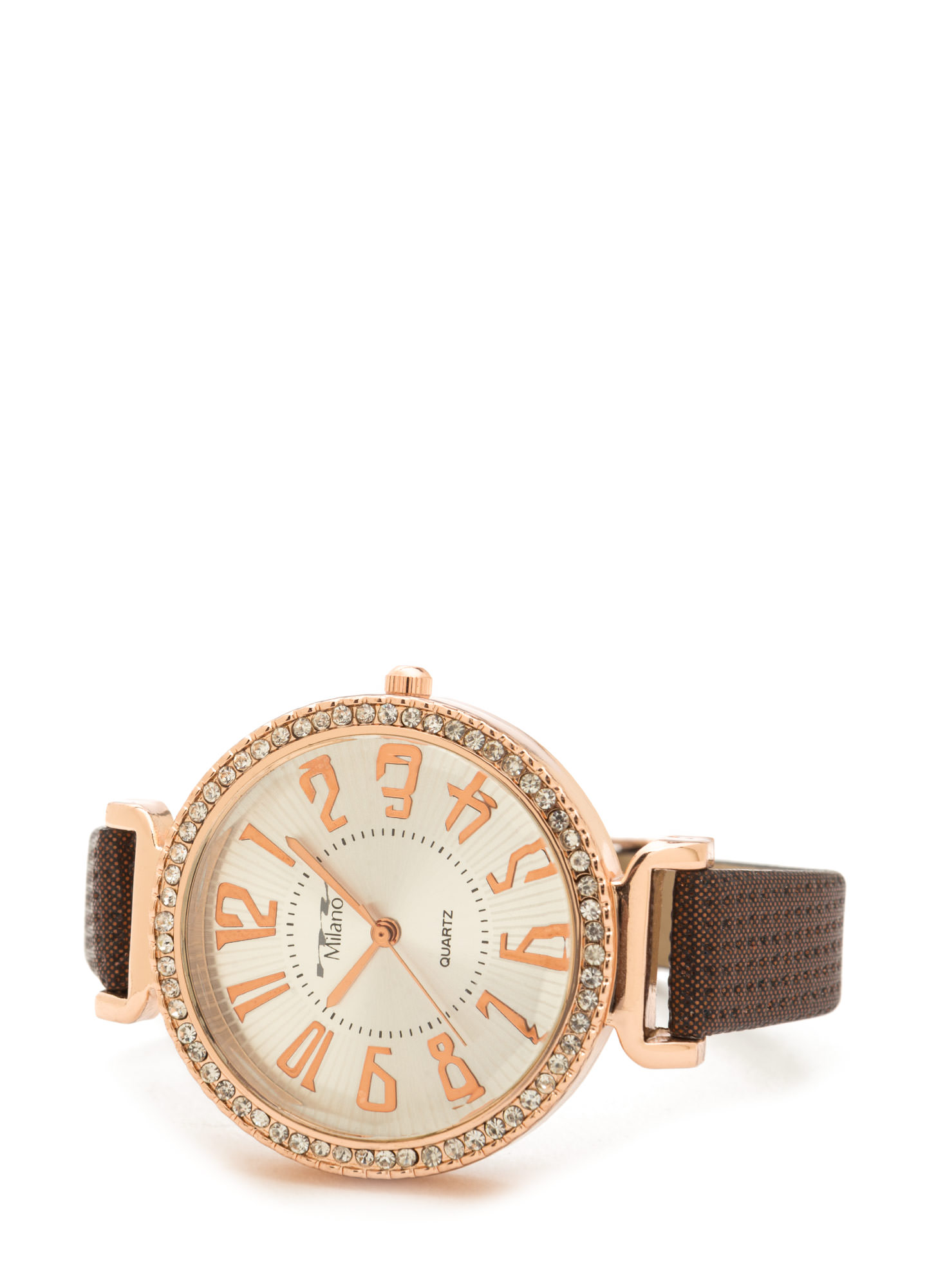 Shine Of The Time Jeweled Watch BROWNGOLD