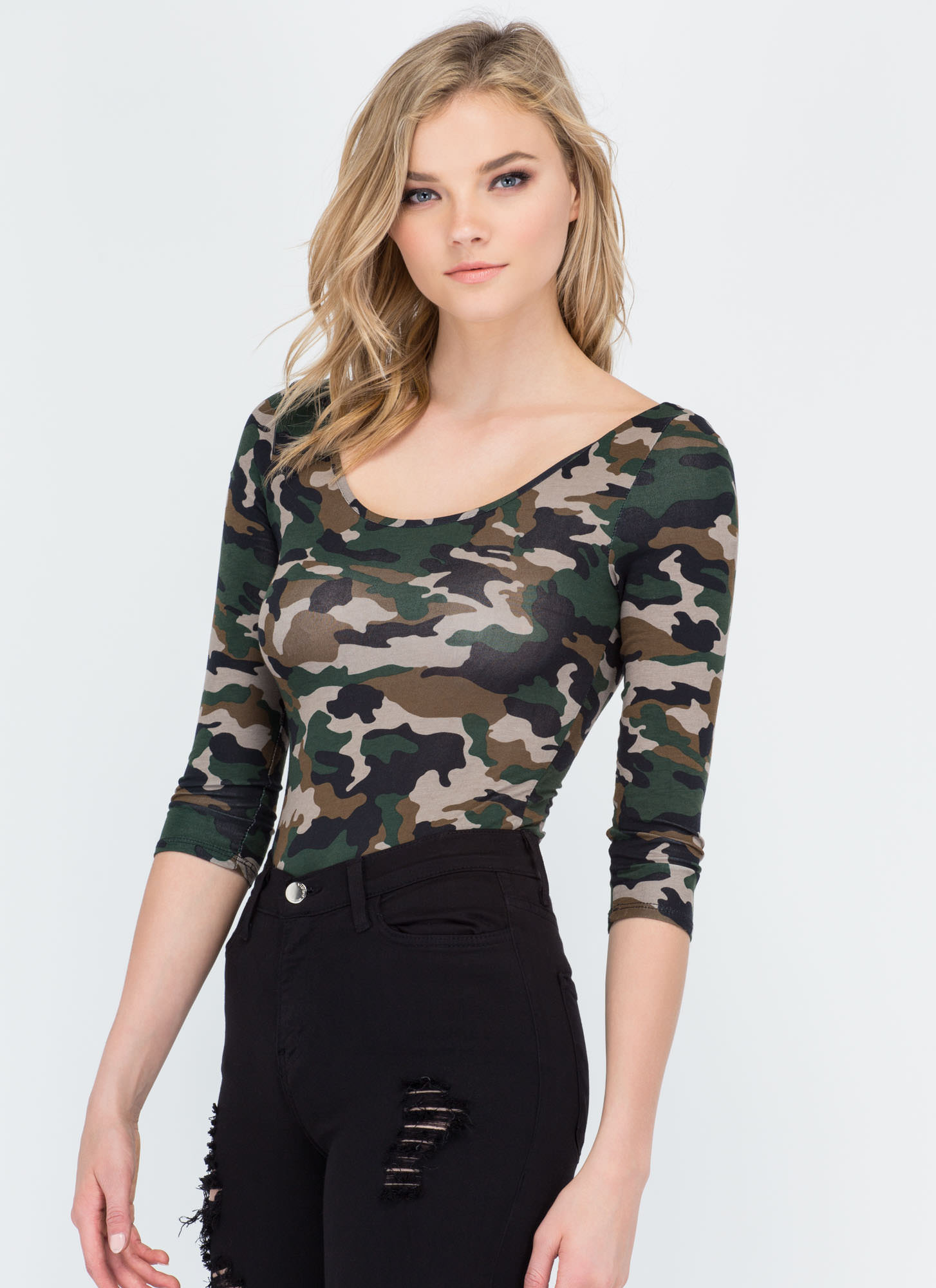 Soldier On Camo Bodysuit CAMOUFLAGE