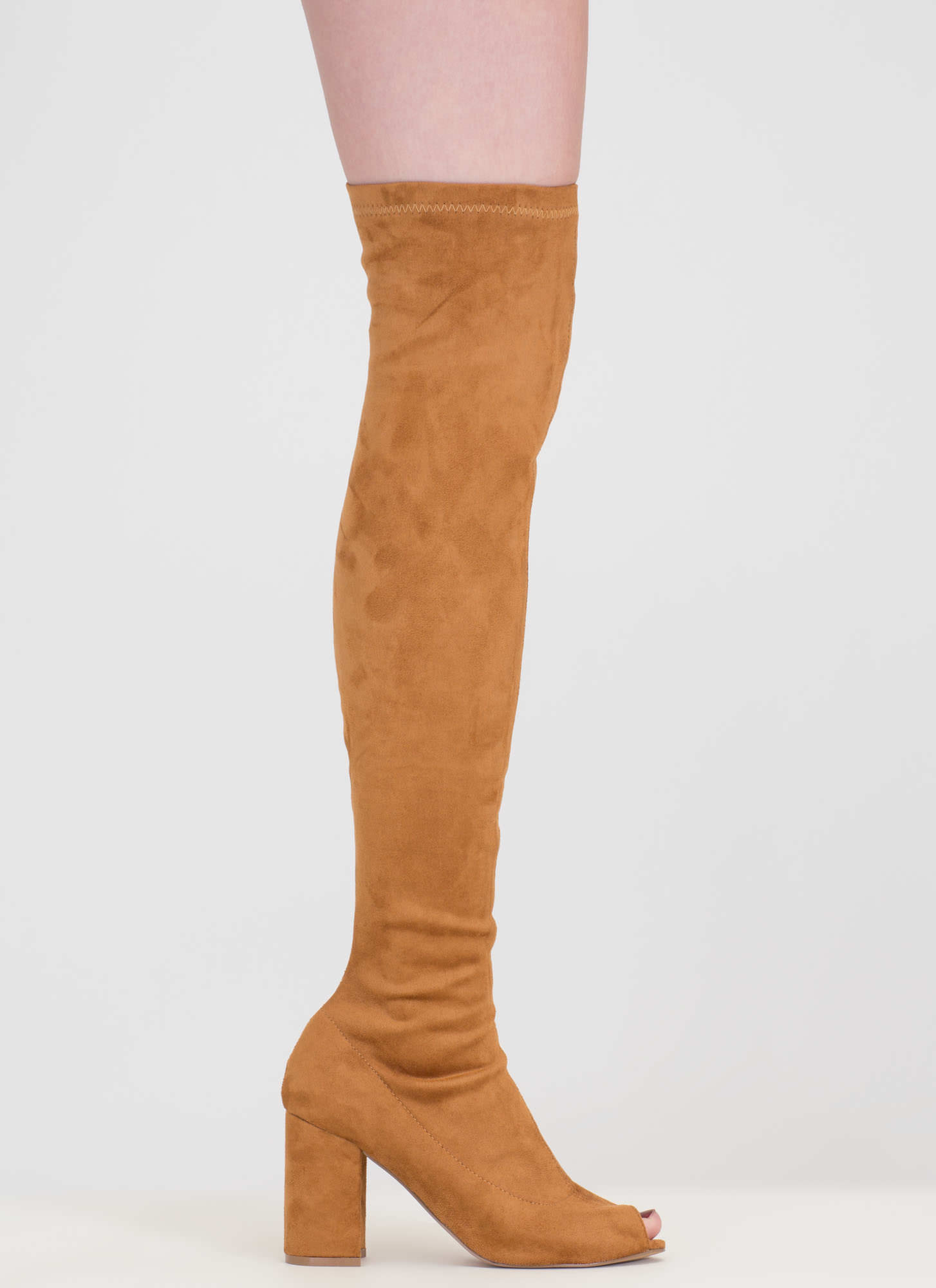 Tall Tale Over-The-Knee Chunky Boots MOCHA