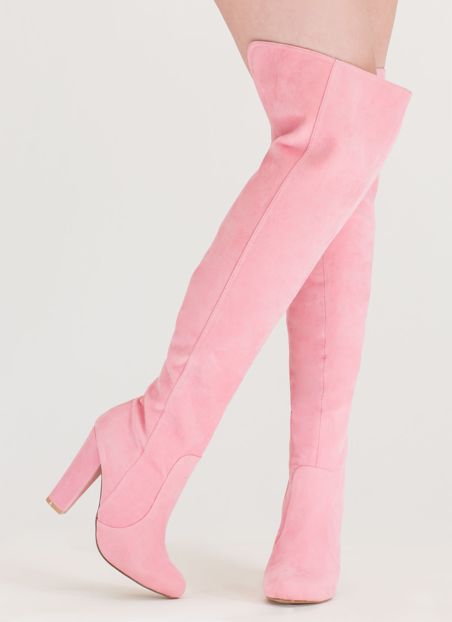 Walking Tall Over-The-Knee Boots PINK