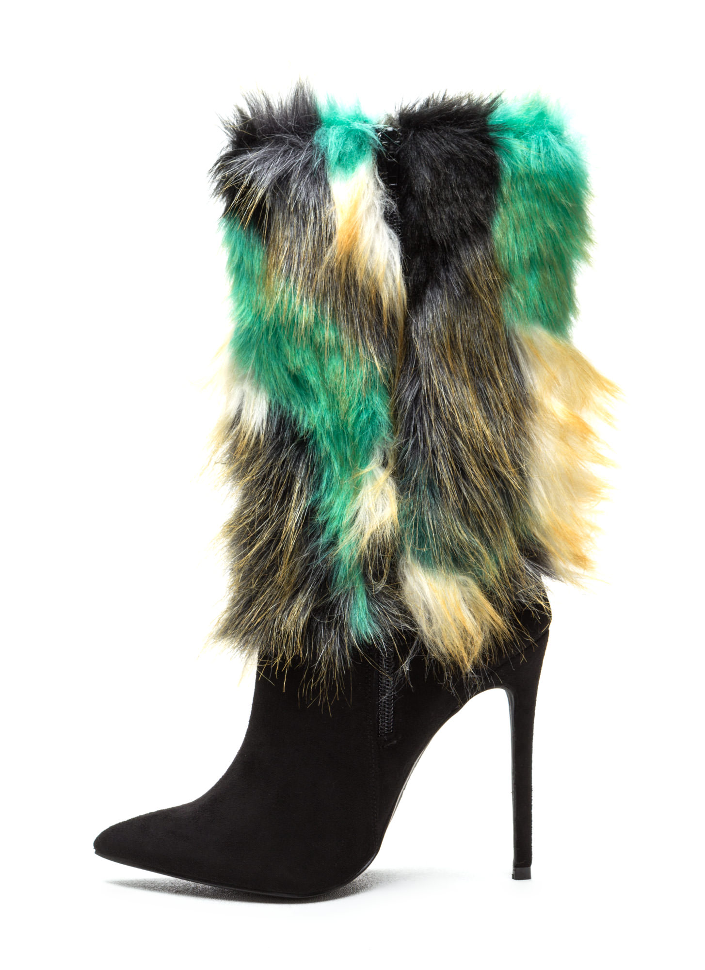 Play Fur Keeps Pointy Boots BLACK