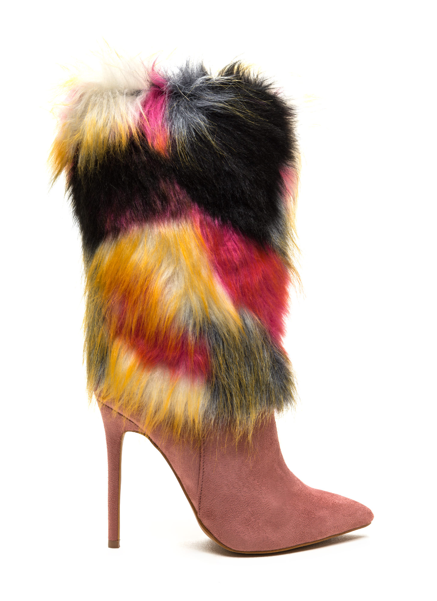 Play Fur Keeps Pointy Boots BLUSH