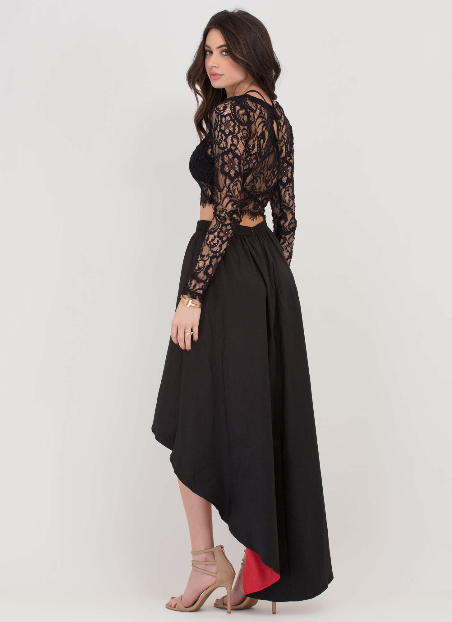 Meet Me At Midnight Two-Piece Dress BLACK