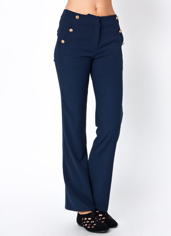 Pocketed Sailor Pants NAVY