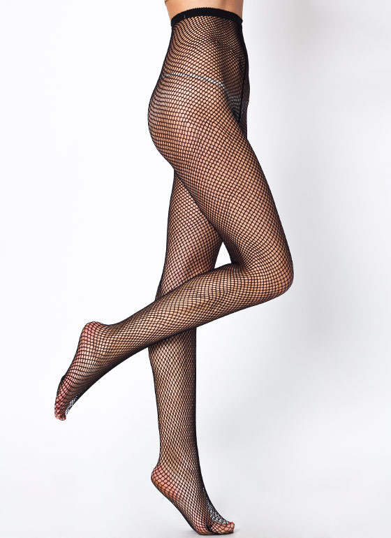 Sheer Worth Fishnet Tights BLACK (Final Sale)