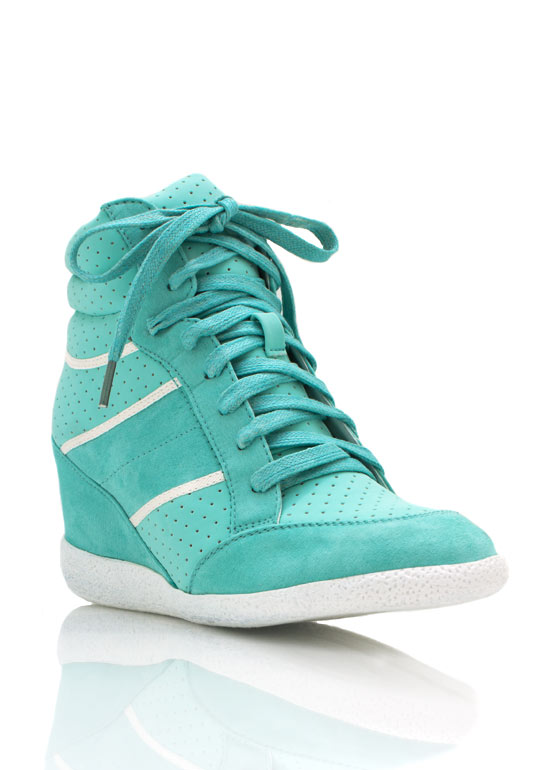 Lace Up Wedge Sneakers MINT