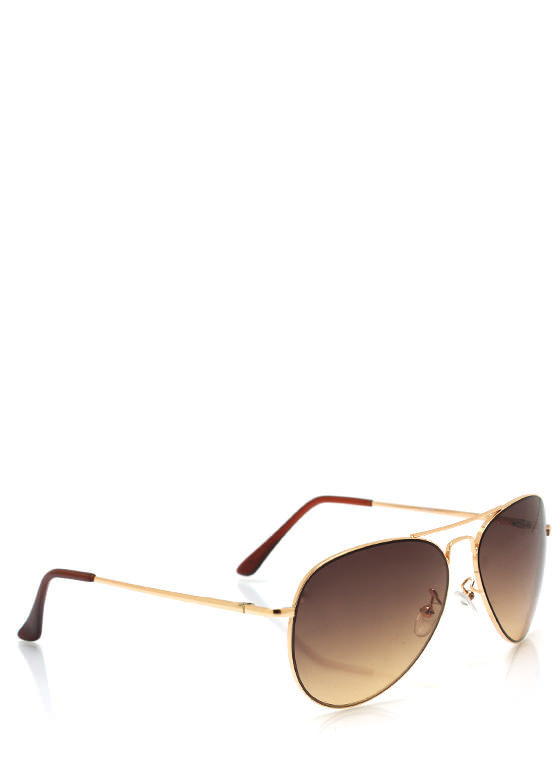Aviator Style Sunglasses GOLD