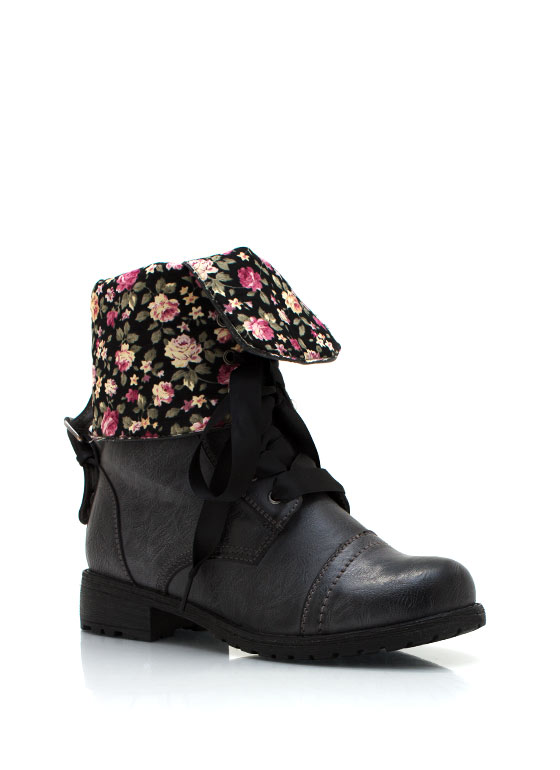Lace Up Boots BLACK