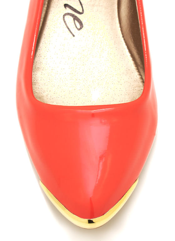 Spiked Pointy Toe Flats CORAL (Final Sale)