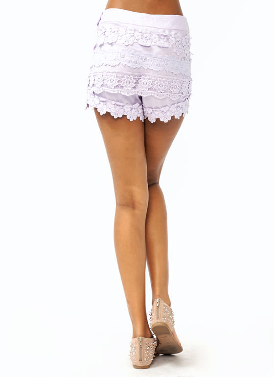 Lace Trim Shorts LAVENDER