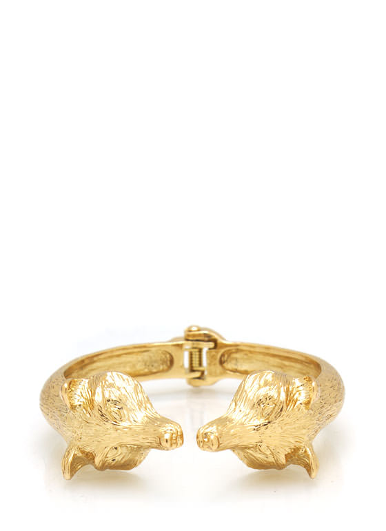 Mirrored Fox Hinge Bracelet GOLD