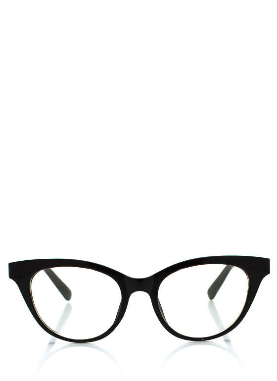 Cat Eye Frame Glasses BLACK