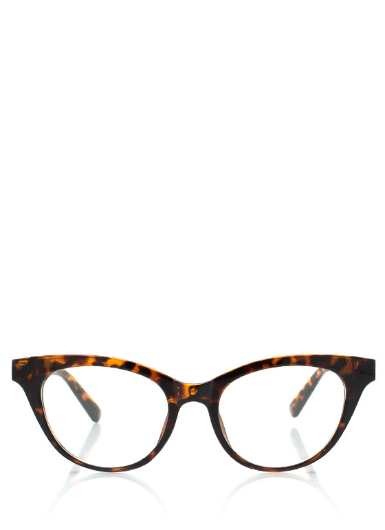 Cat Eye Frame Glasses TORTOISE