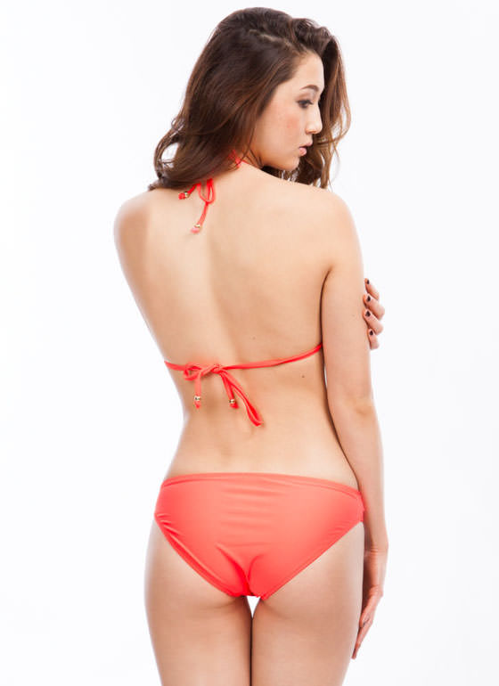 Chain Link Bikini Set NEONORANGE