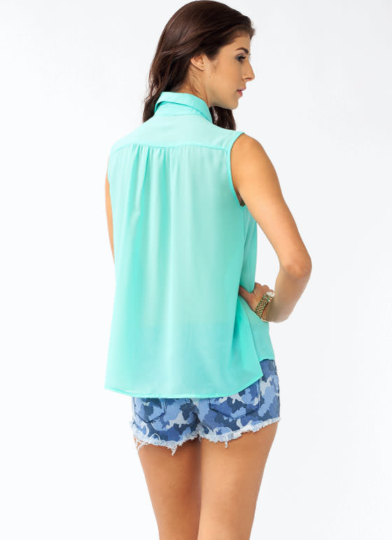 Bejeweled Blouse MINT