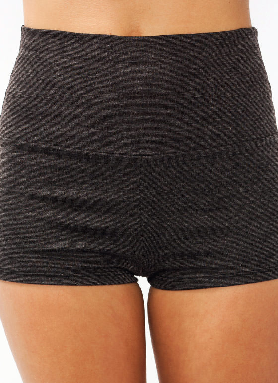 High-Waisted Shorts CHARCOAL