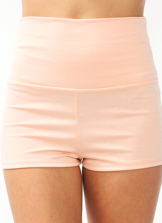 High-Waisted Shorts PEACH (Final Sale)