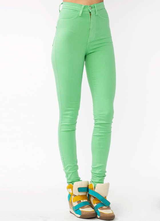 High Waisted Skinny Jeans MINT