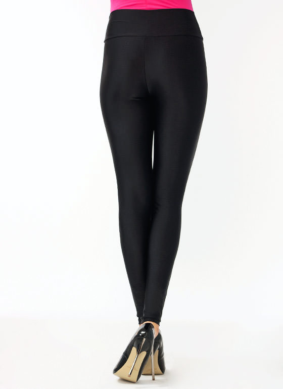 High-Waisted Leggings BLACK