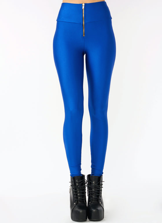 High-Waisted Leggings ROYAL