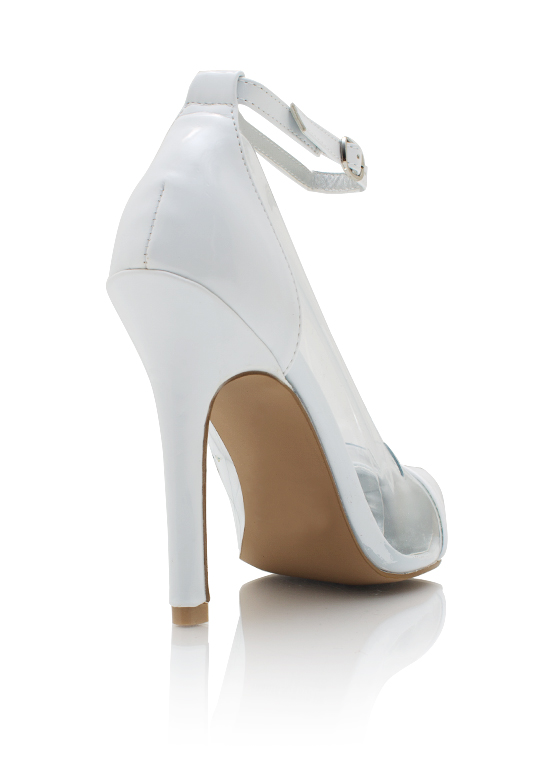 Cap Toe Pumps WHITE