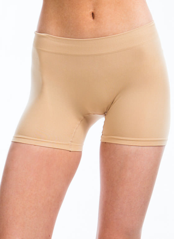 Stretchy Boy Shorts BEIGE