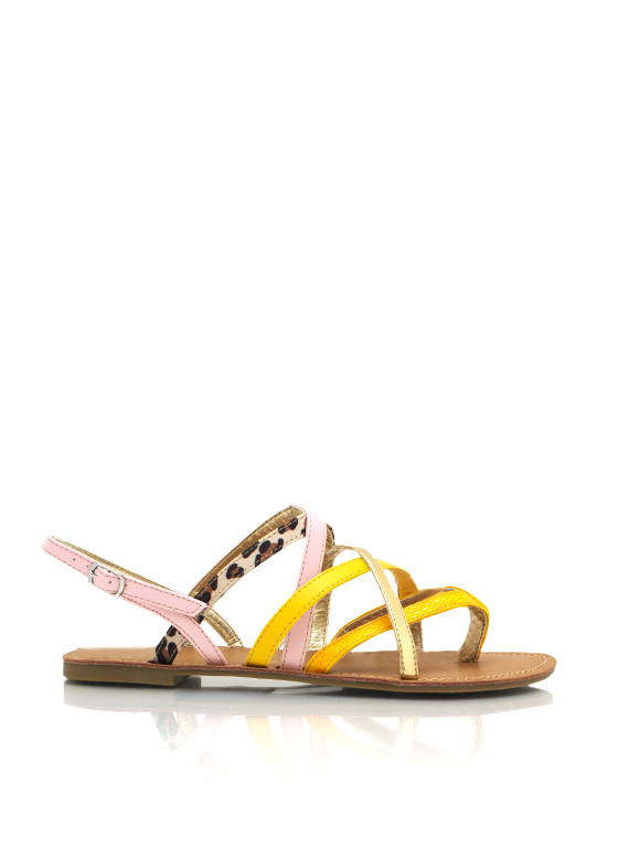 Mixed Texture Strappy Sandals MANGO
