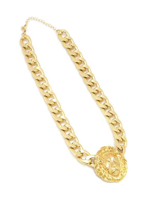 Lion Charm Chain Necklace GOLD