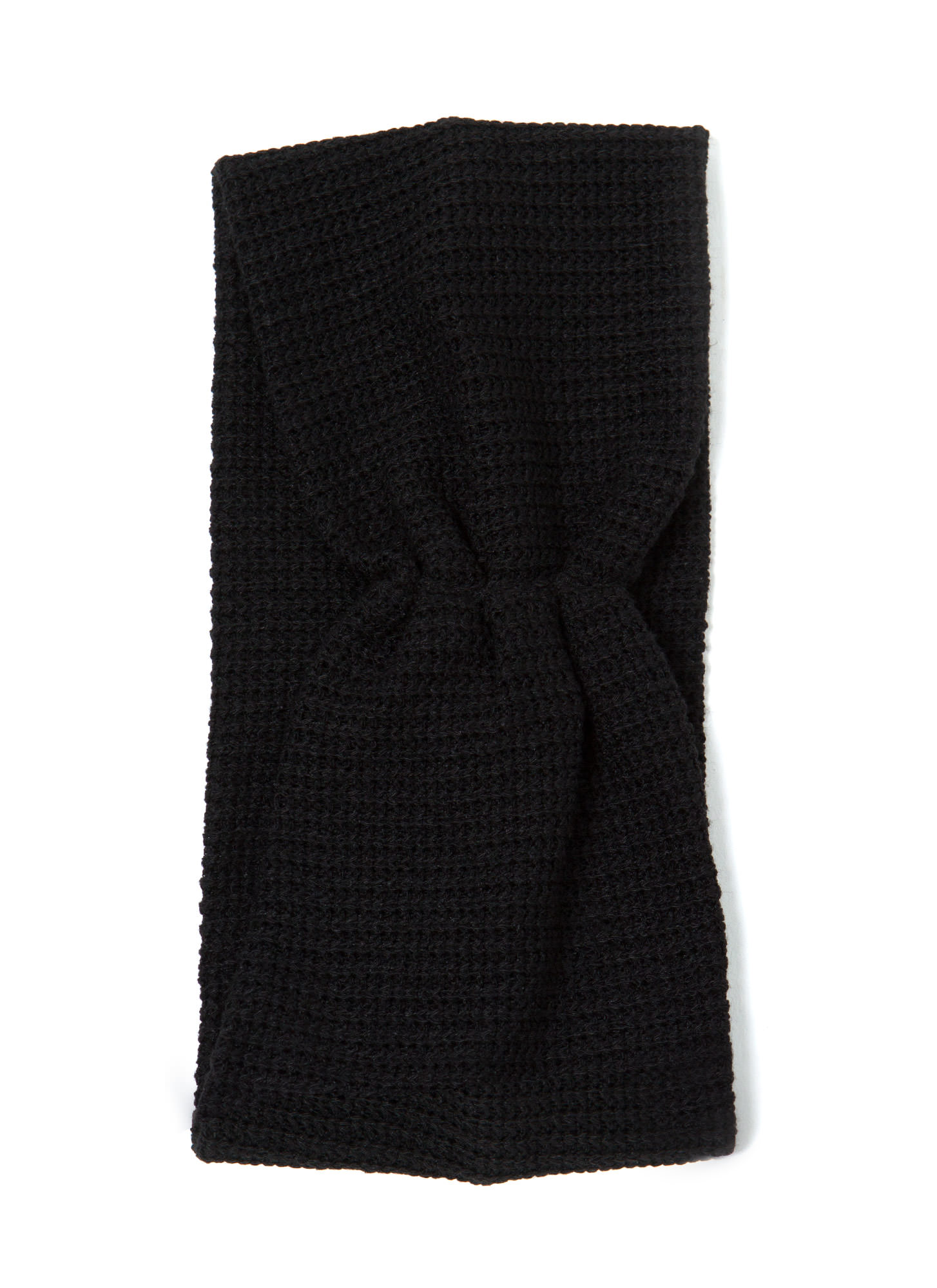 Pleated Net Headband BLACK
