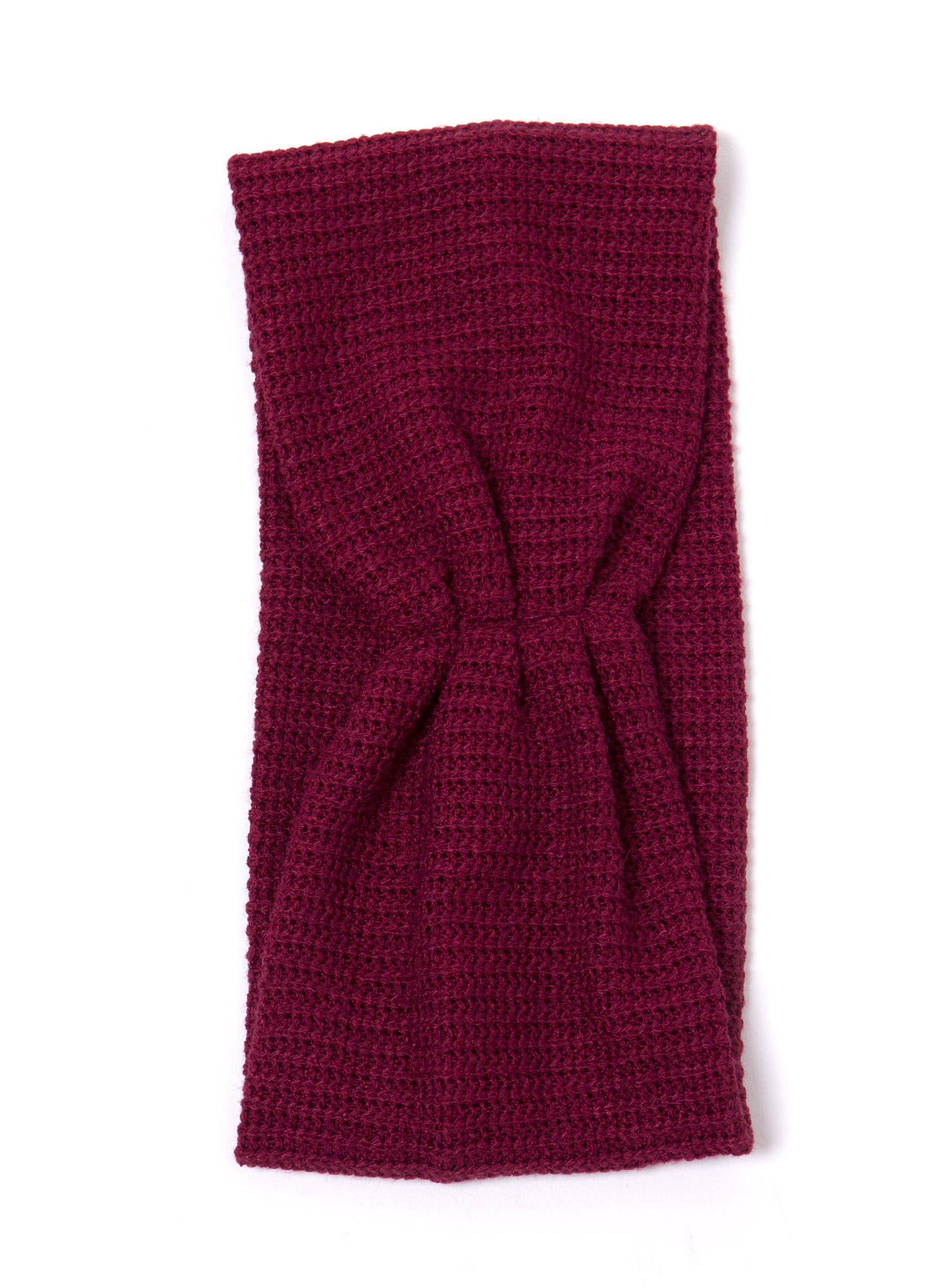 Pleated Net Headband BURGUNDY