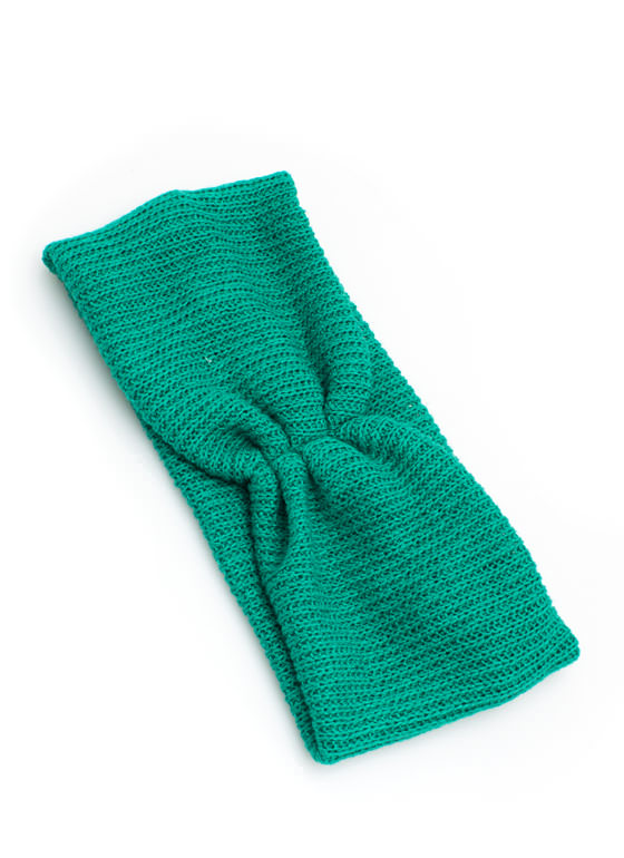 Pleated Net Headband GREEN