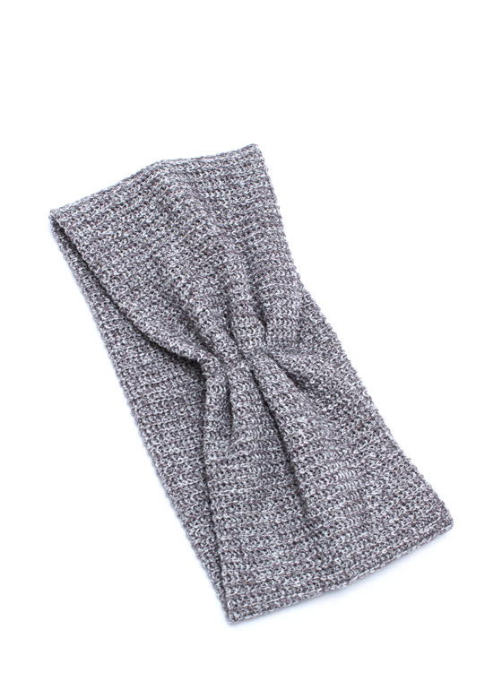 Pleated Net Headband GREY