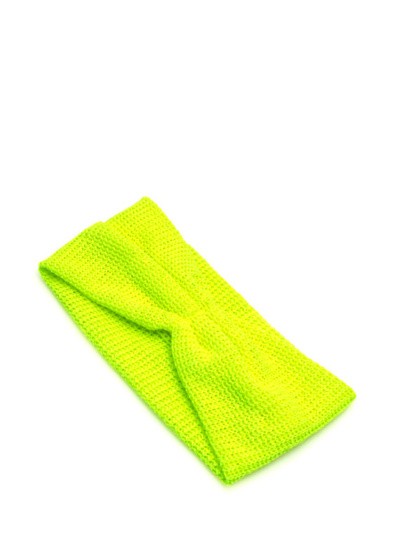 Pleated Net Headband NEONYELLOW