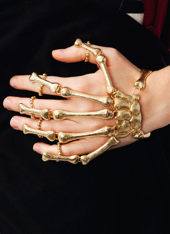 Skeleton Hand Bracelet GOLD