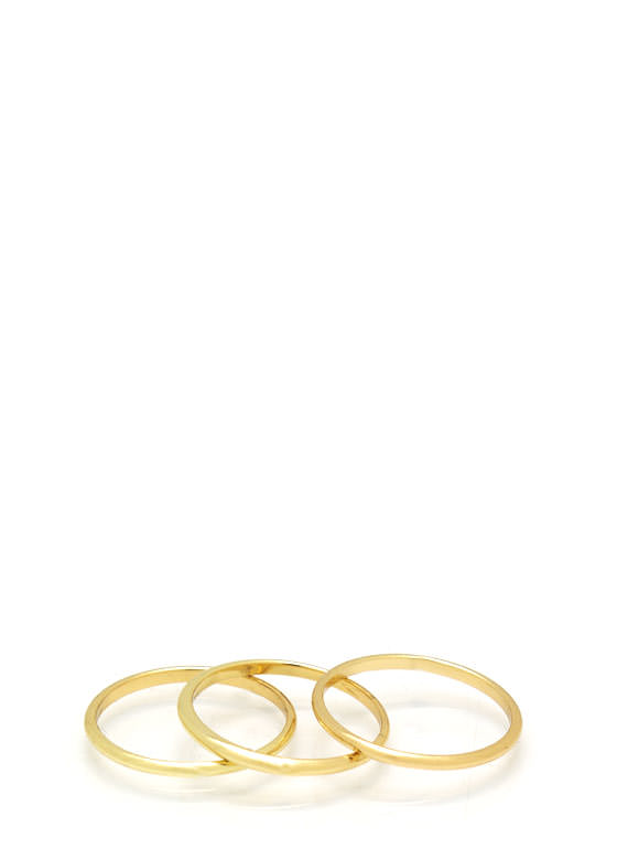 Midi Ring Trio GOLD
