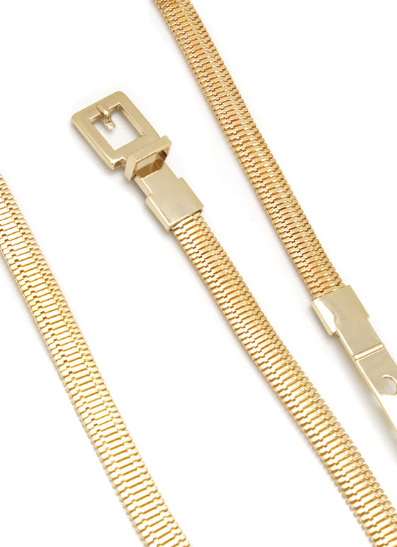 Snake Chain Buckle Belt GOLD