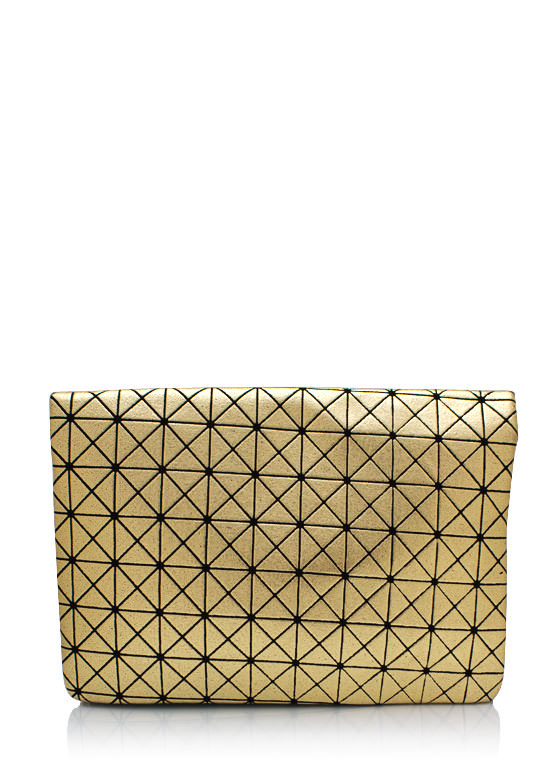 Geometric Pattern Clutch GOLDBLACK