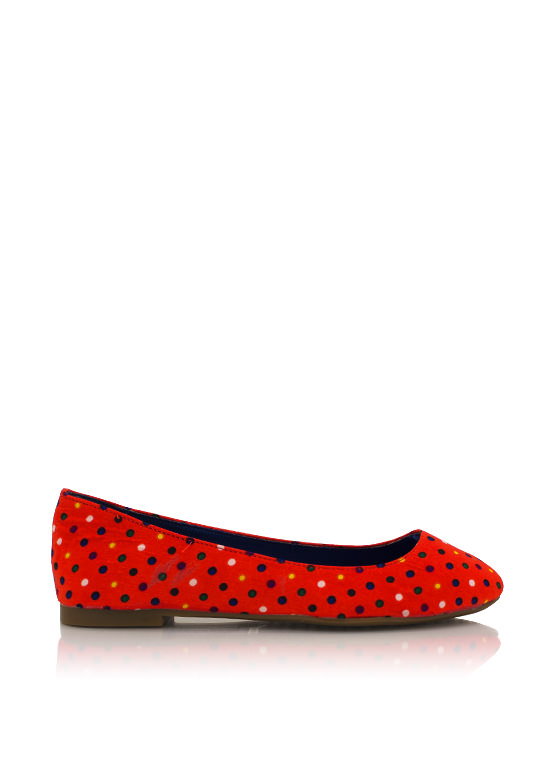 Polka Dot Flats ORANGE