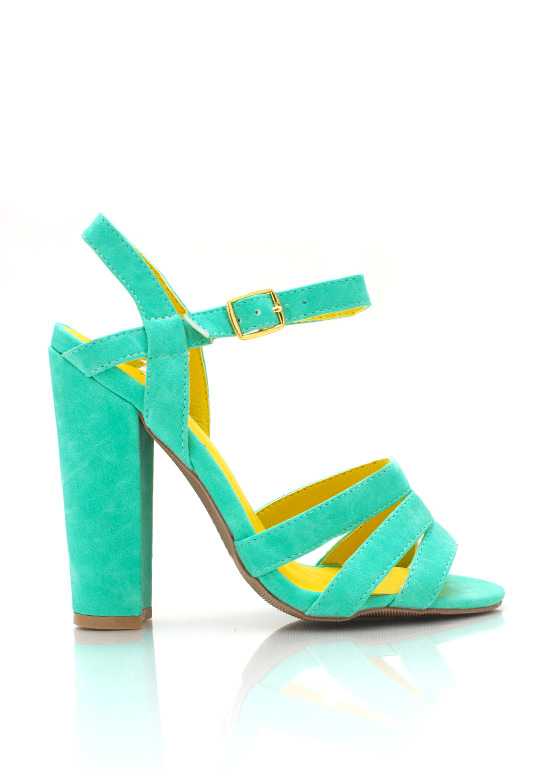 Strappy Heels SEAGREEN