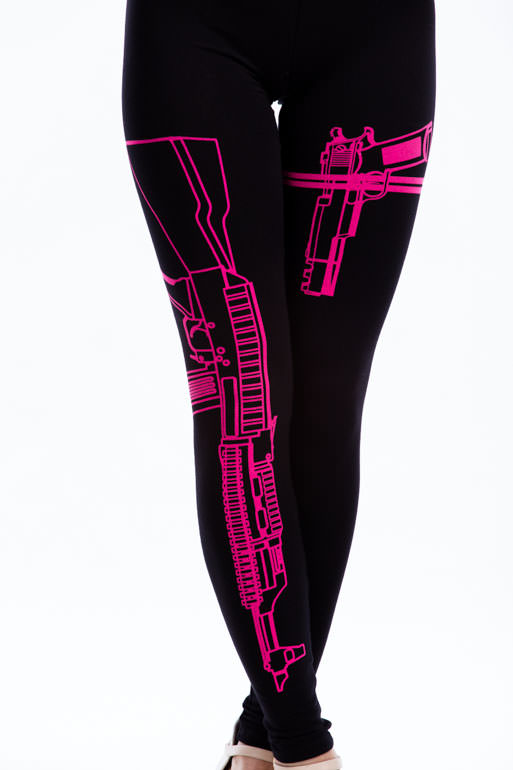Firearm Printed Leggings BLACKPINK