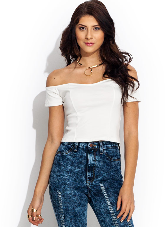 Sweetheart Cropped Top IVORY