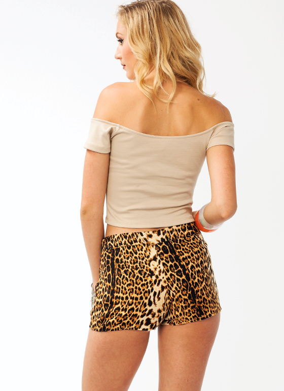 Sweetheart Cropped Top TAUPE