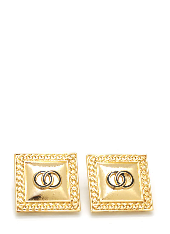 Textured Square Earrings GOLD