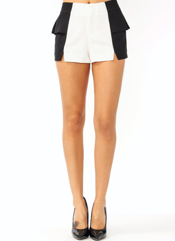 Peplum Slit Shorts BLACKIVORY